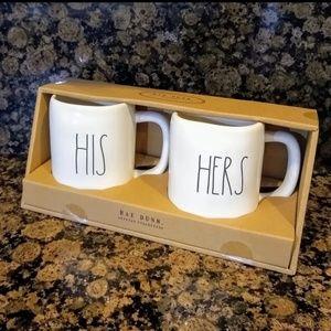 NEW Rae Dunn His Hers Mug Set